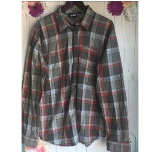 Mens Vans Long Sleeve Flannel